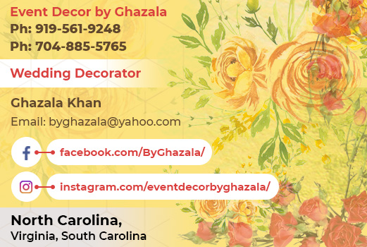byGhazala Visiting Card
